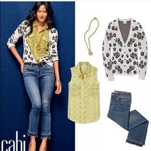 Cabi Kick It Crop Frayed Jeans